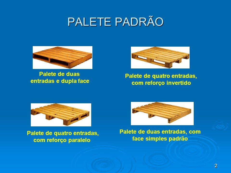 PALETE PADRÃO Palete de quatro entradas, com reforço invertido