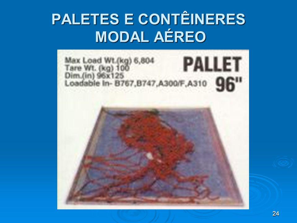 PALETES E CONTÊINERES MODAL AÉREO