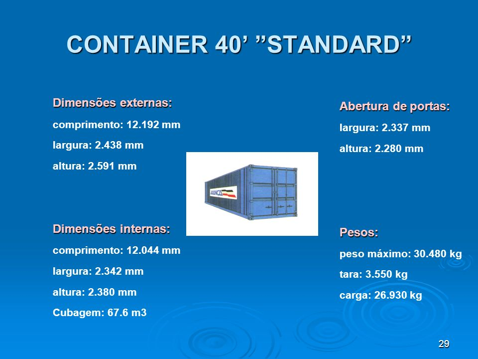 CONTAINER 40' STANDARD