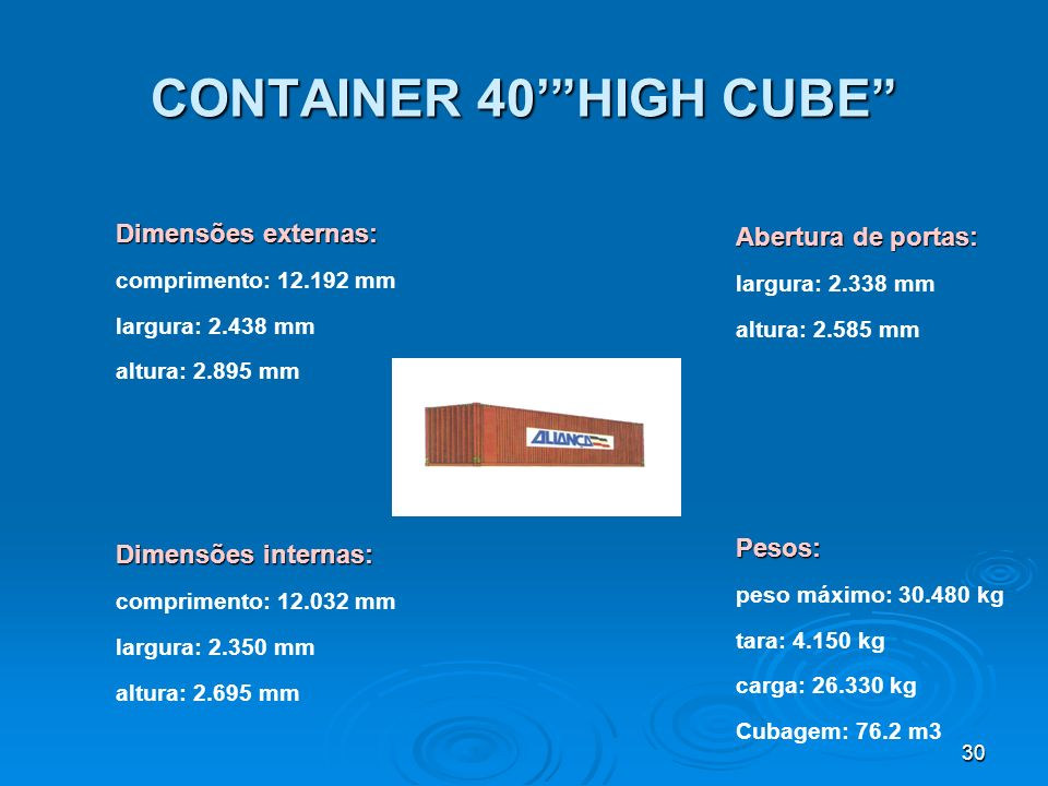 CONTAINER 40' HIGH CUBE