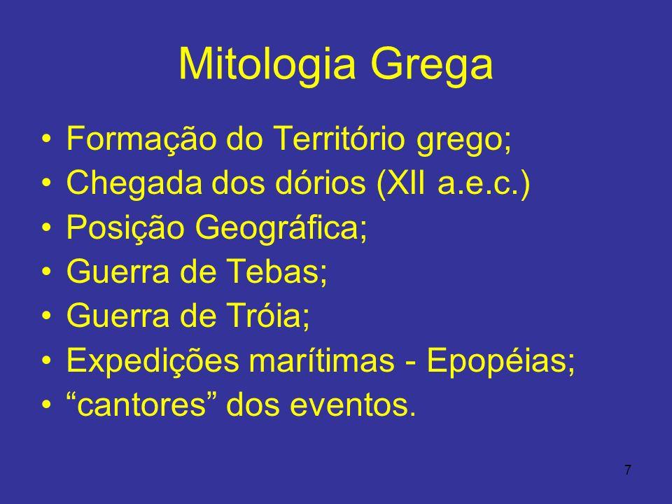 Mitologia Grega Formação do Território grego;
