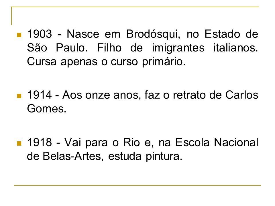 1903 - Nasce em Brodósqui, no Estado de São Paulo