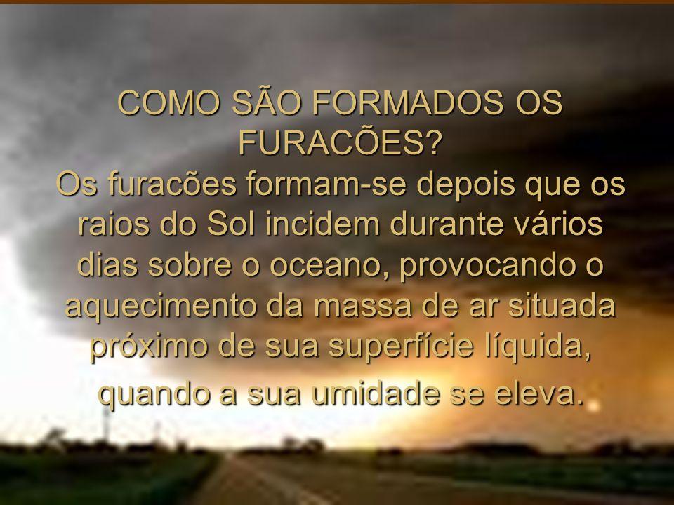 COMO SÃO FORMADOS OS FURACÕES