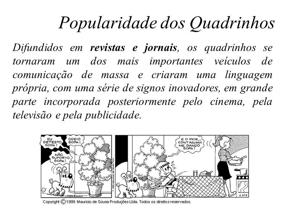 Popularidade dos Quadrinhos