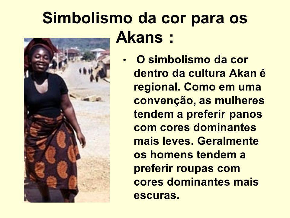 Simbolismo da cor para os Akans :