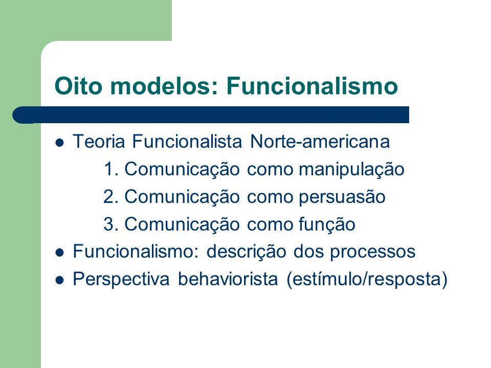 Oito modelos: Funcionalismo