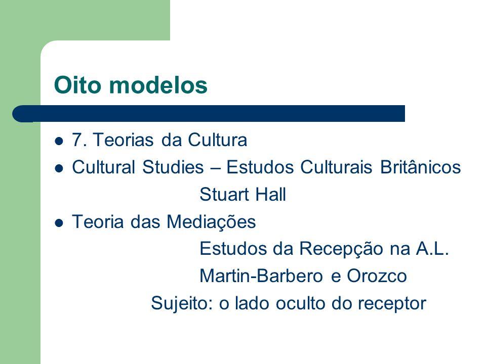 Oito modelos 7. Teorias da Cultura