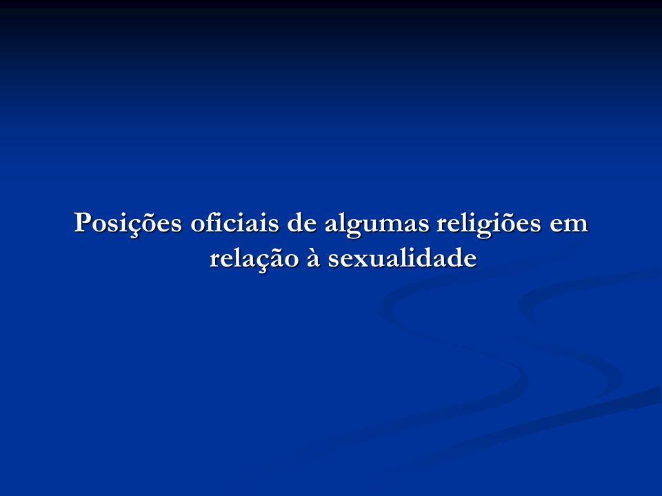 Posições oficiais de algumas religiões em relação à sexualidade