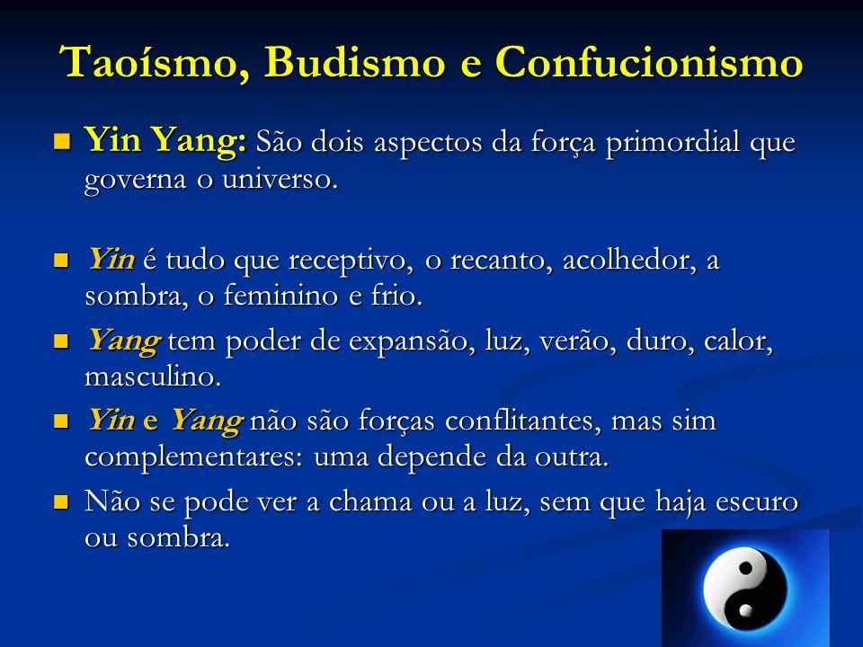Taoísmo, Budismo e Confucionismo