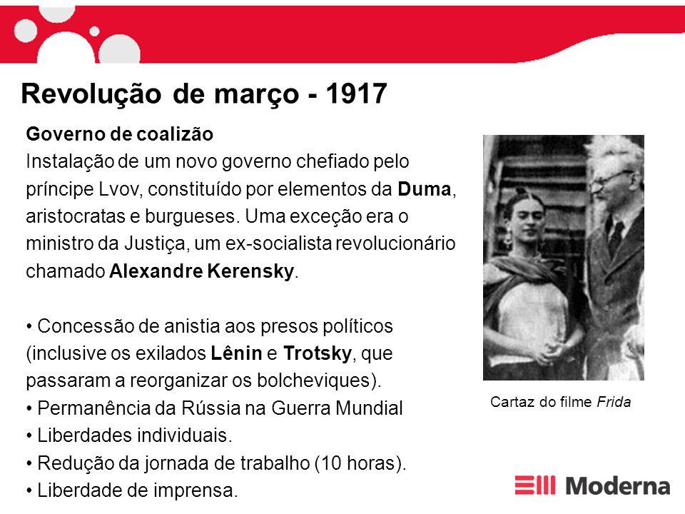 Revolução de março - 1917 Governo de coalizão