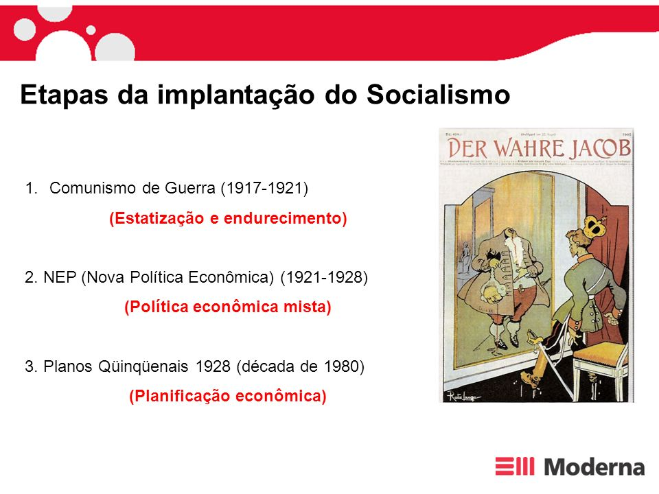 Etapas da implantação do Socialismo