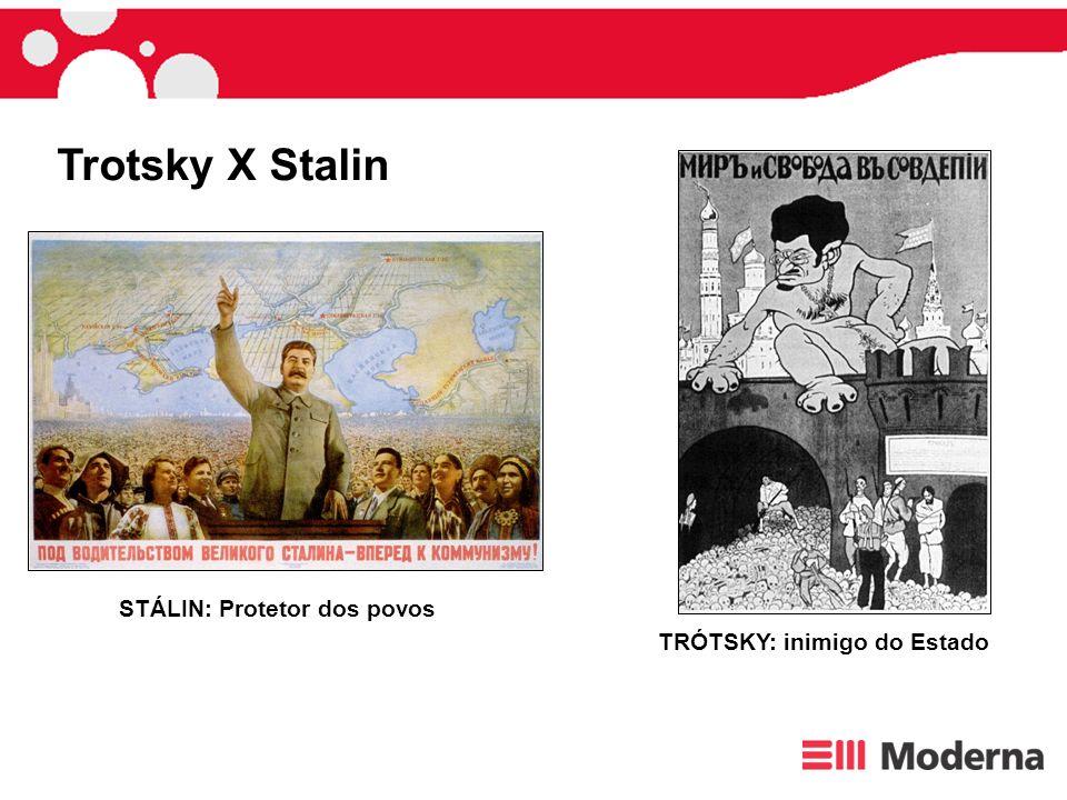 STÁLIN: Protetor dos povos TRÓTSKY: inimigo do Estado