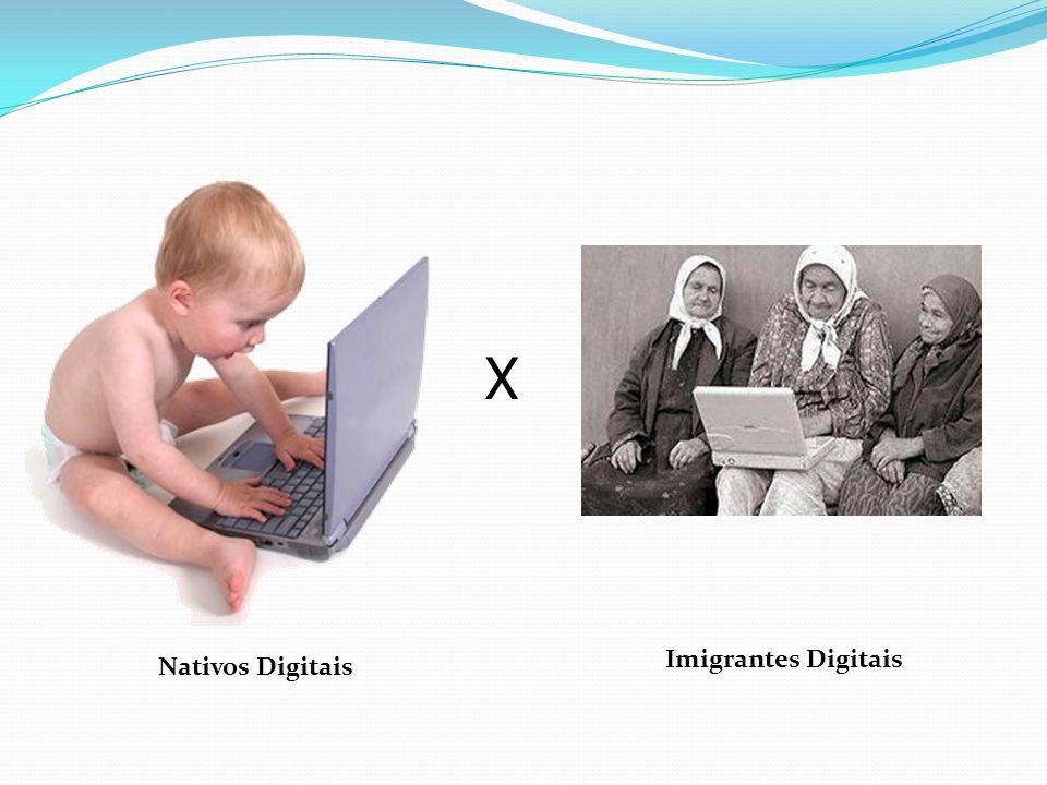 X Imigrantes Digitais Nativos Digitais