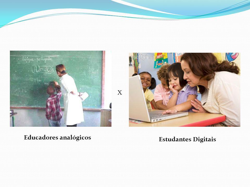 X Educadores analógicos Estudantes Digitais