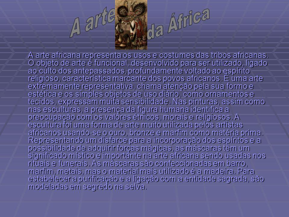 A arte da África.