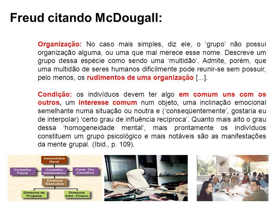 Freud citando McDougall: