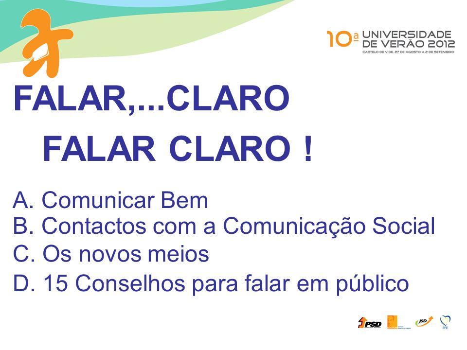 FALAR,...CLARO FALAR CLARO ! A. Comunicar Bem