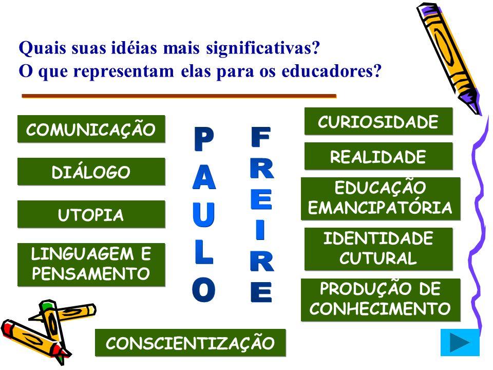 EDUCAÇÃO EMANCIPATÓRIA LINGUAGEM E PENSAMENTO PRODUÇÃO DE CONHECIMENTO