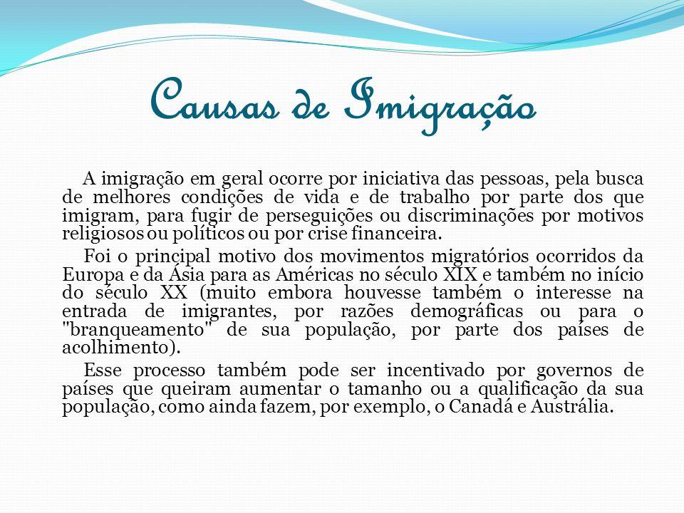 Causas de Imigração