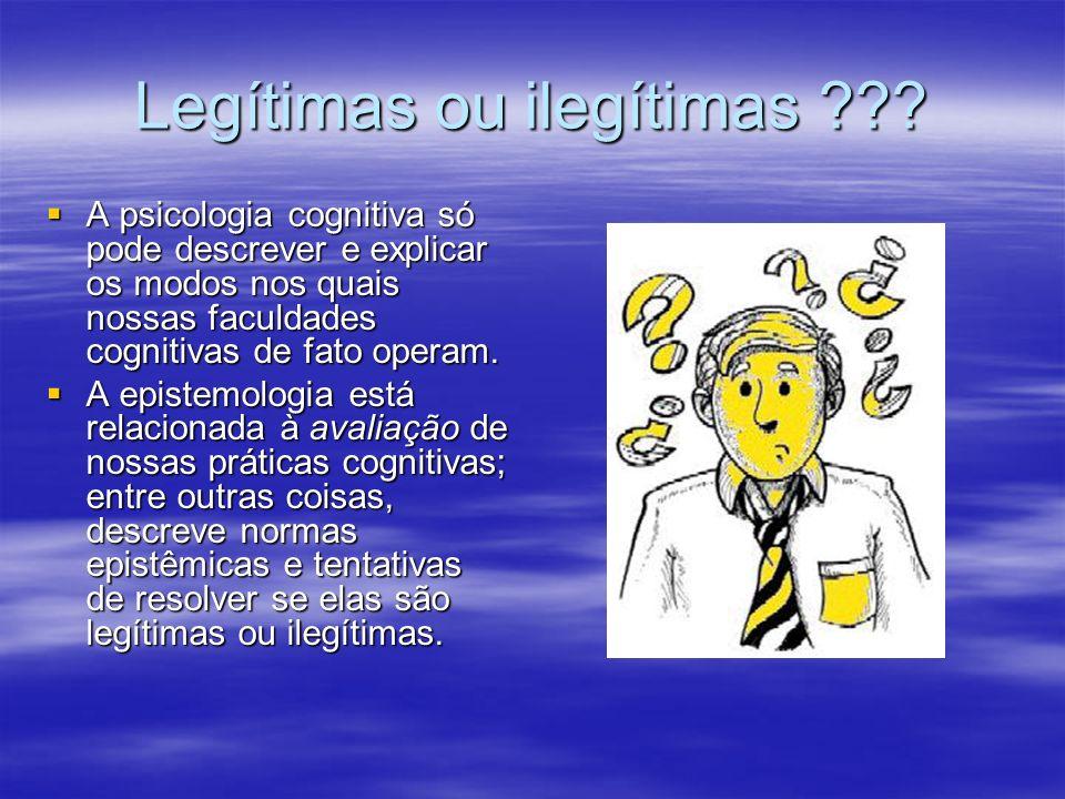Legítimas ou ilegítimas
