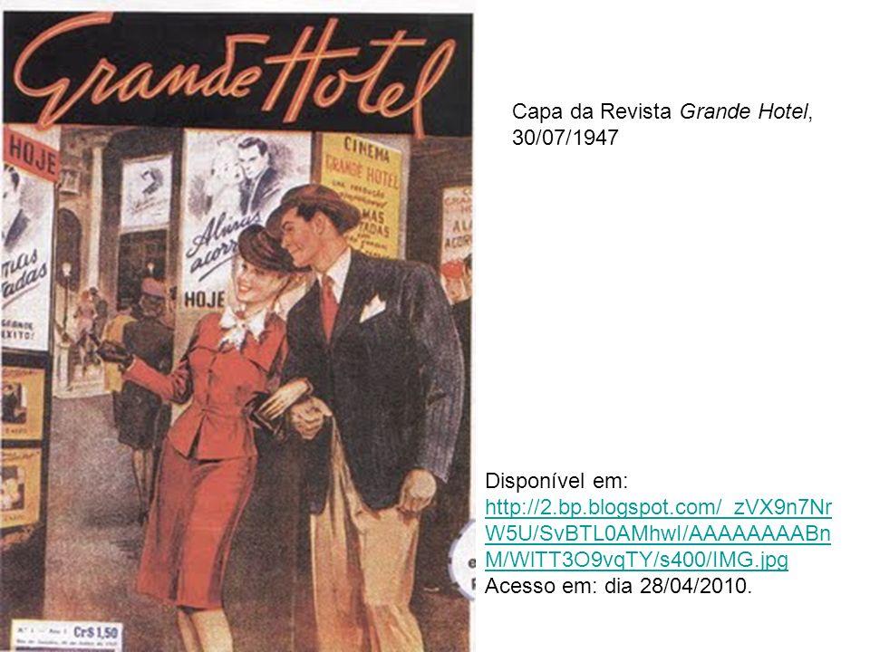 Capa da Revista Grande Hotel, 30/07/1947