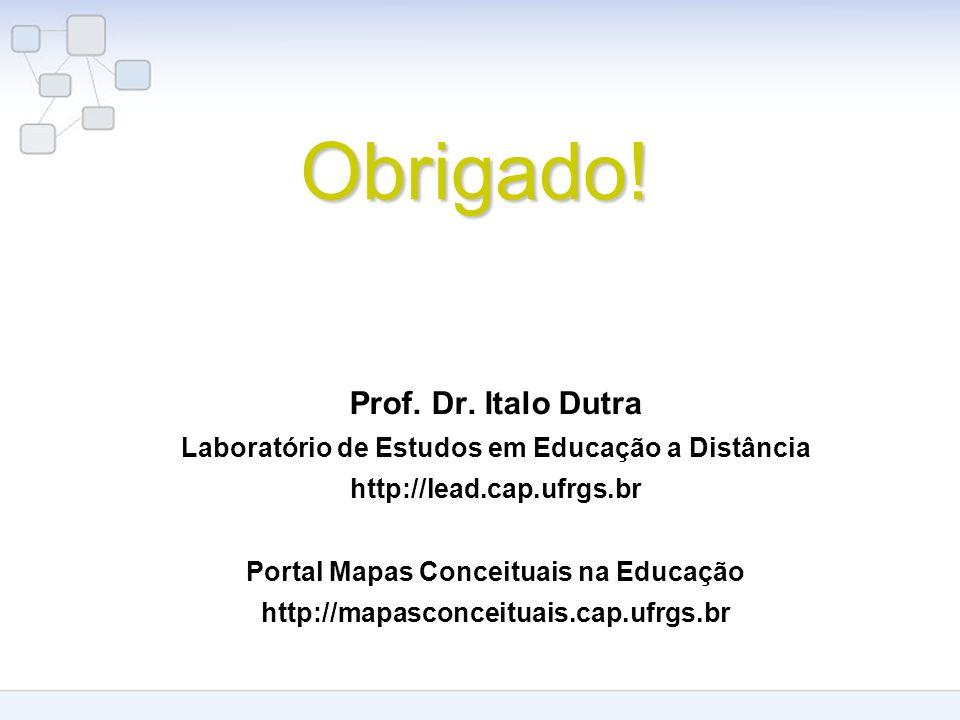 Obrigado! Prof. Dr. Italo Dutra