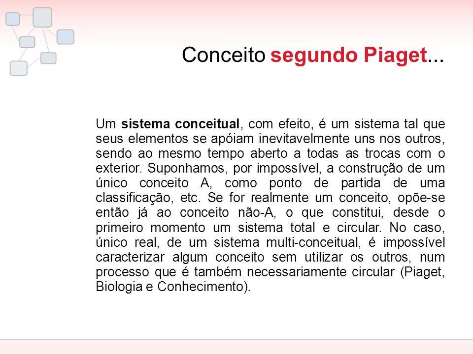Conceito segundo Piaget...