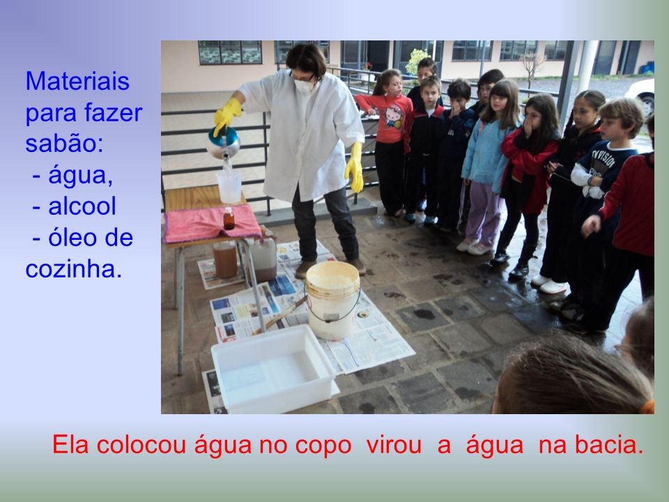 Materiais para fazer sabão: