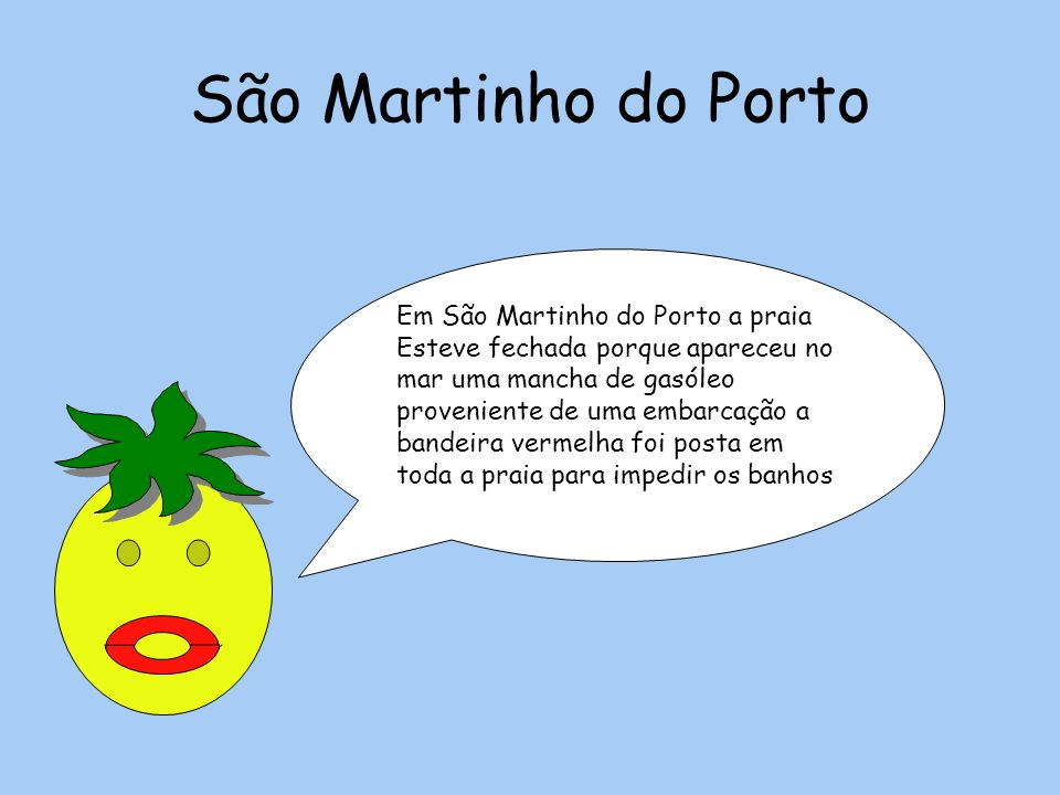 São Martinho do Porto Em São Martinho do Porto a praia