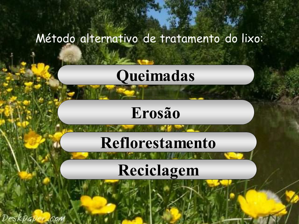 Método alternativo de tratamento do lixo: