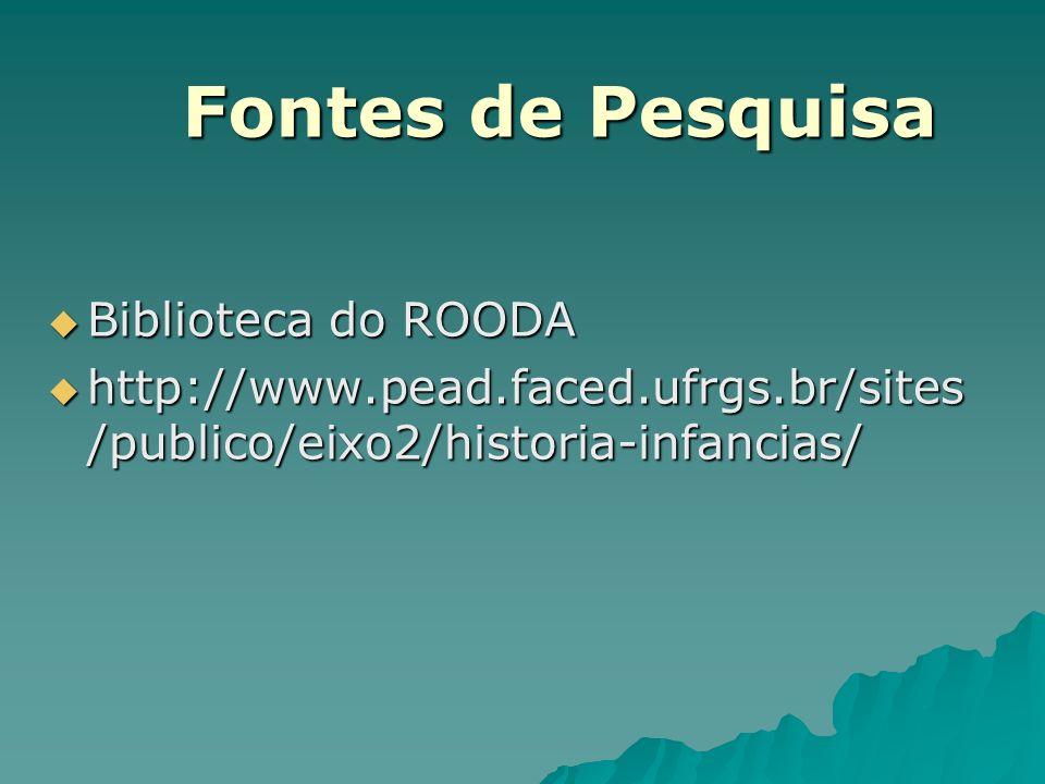 Fontes de Pesquisa Biblioteca do ROODA