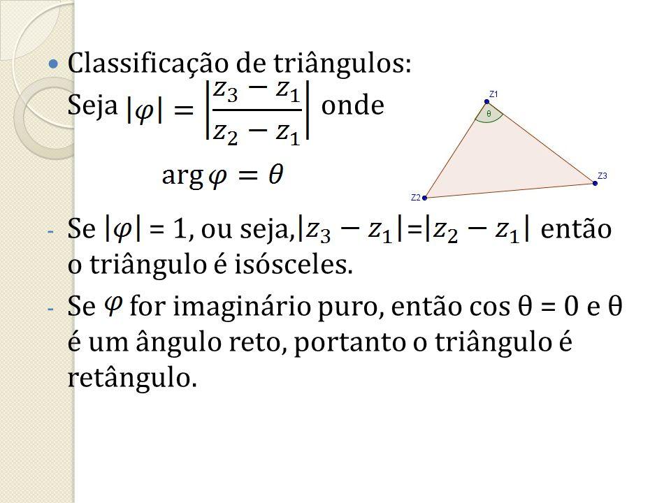 Classificação de triângulos: