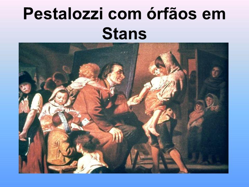 Pestalozzi com órfãos em Stans