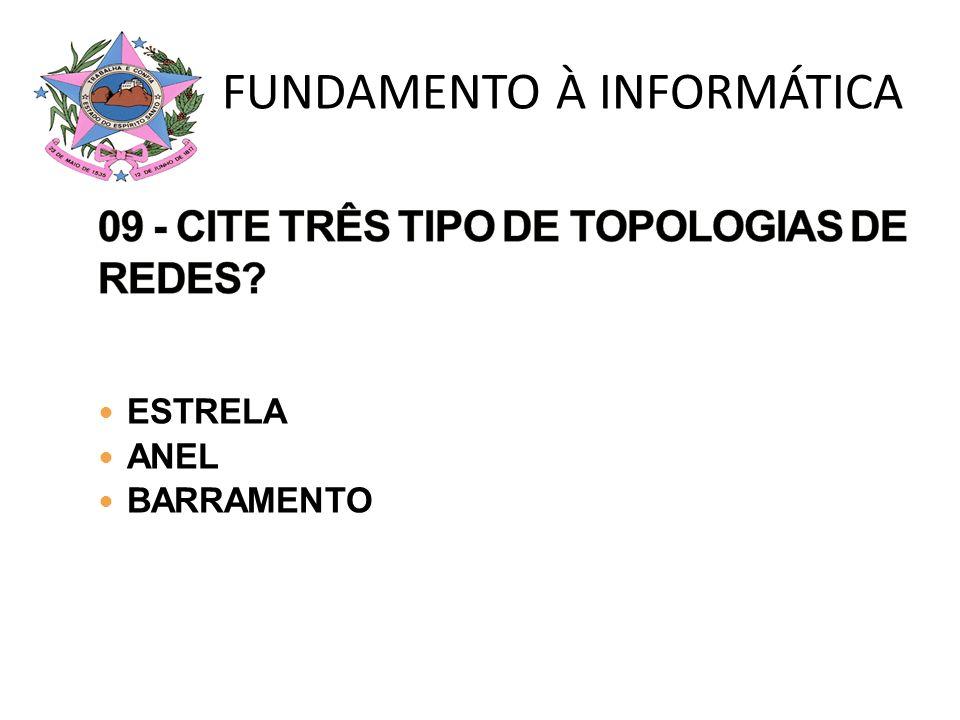 09 - CITE TRÊS TIPO DE TOPOLOGIAS DE REDES