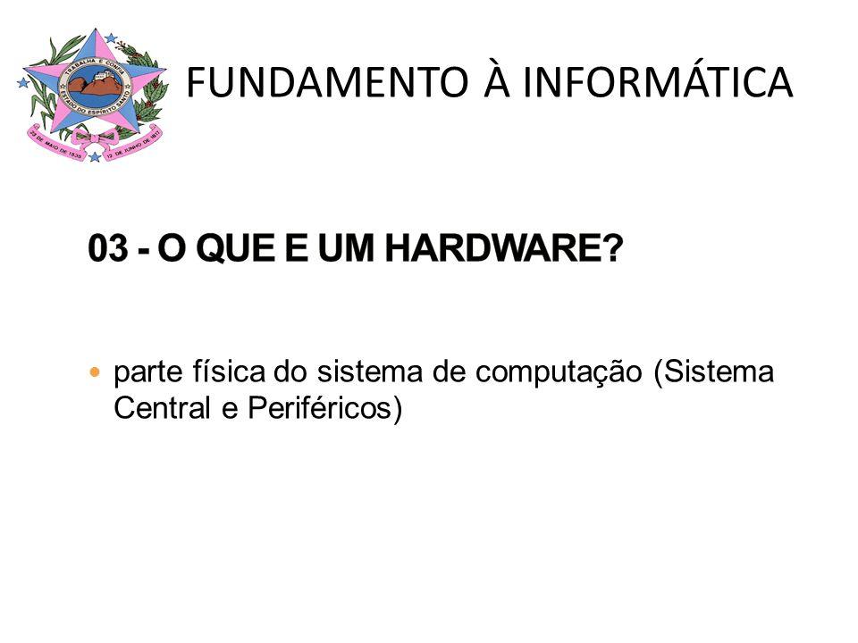 parte física do sistema de computação (Sistema Central e Periféricos)