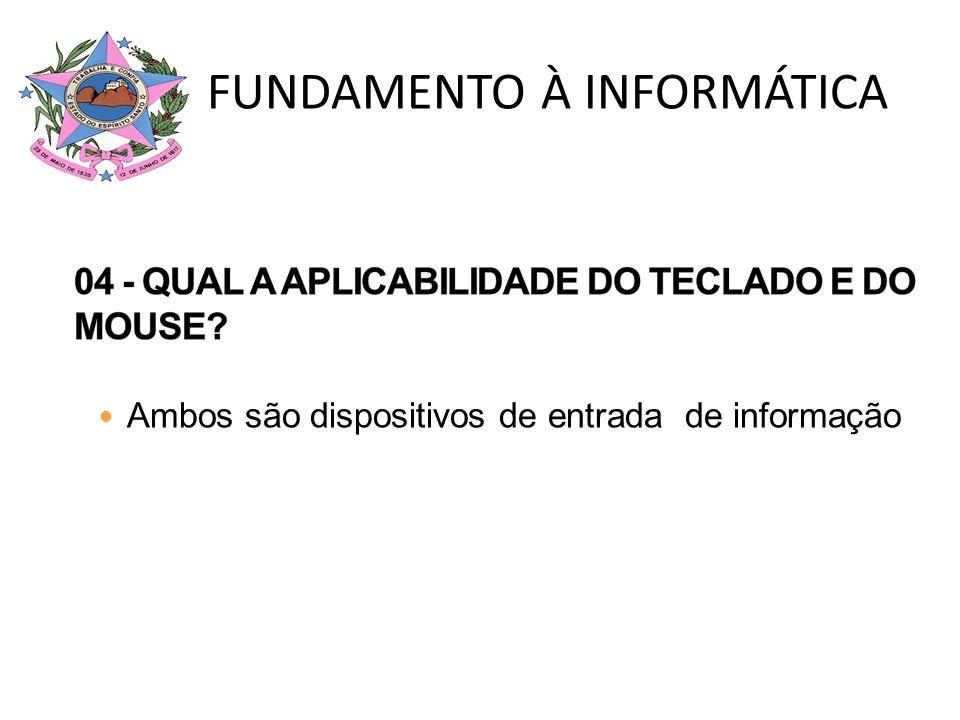 04 - QUAL A APLICABILIDADE DO TECLADO E DO MOUSE
