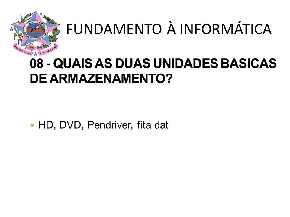 08 - QUAIS AS DUAS UNIDADES BASICAS DE ARMAZENAMENTO