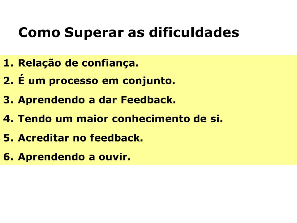 Como Superar as dificuldades