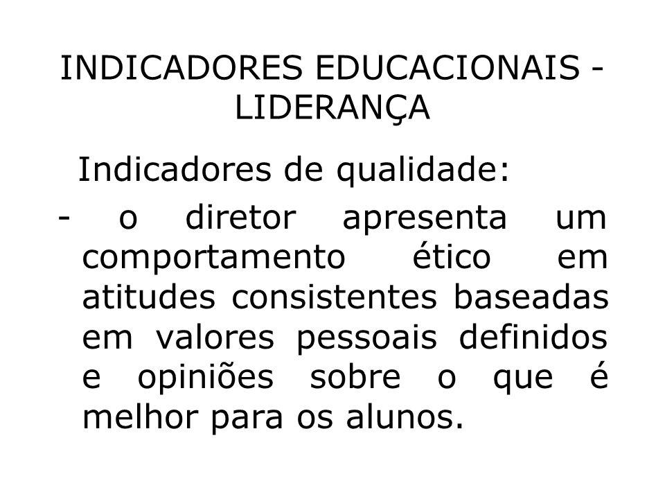 INDICADORES EDUCACIONAIS - LIDERANÇA