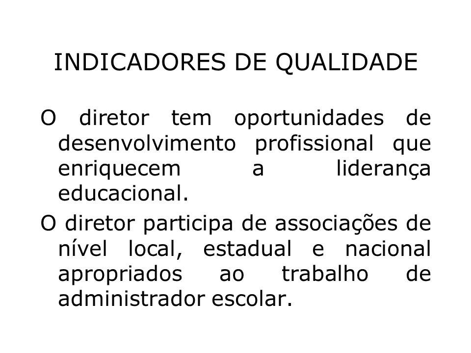INDICADORES DE QUALIDADE