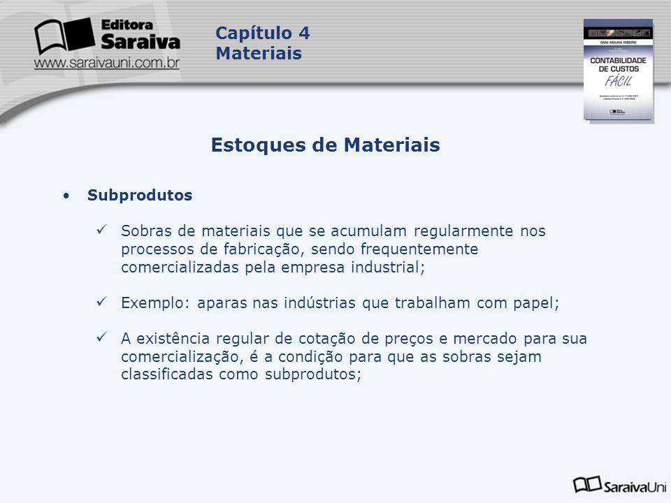 Estoques de Materiais Capítulo 4 Materiais Subprodutos