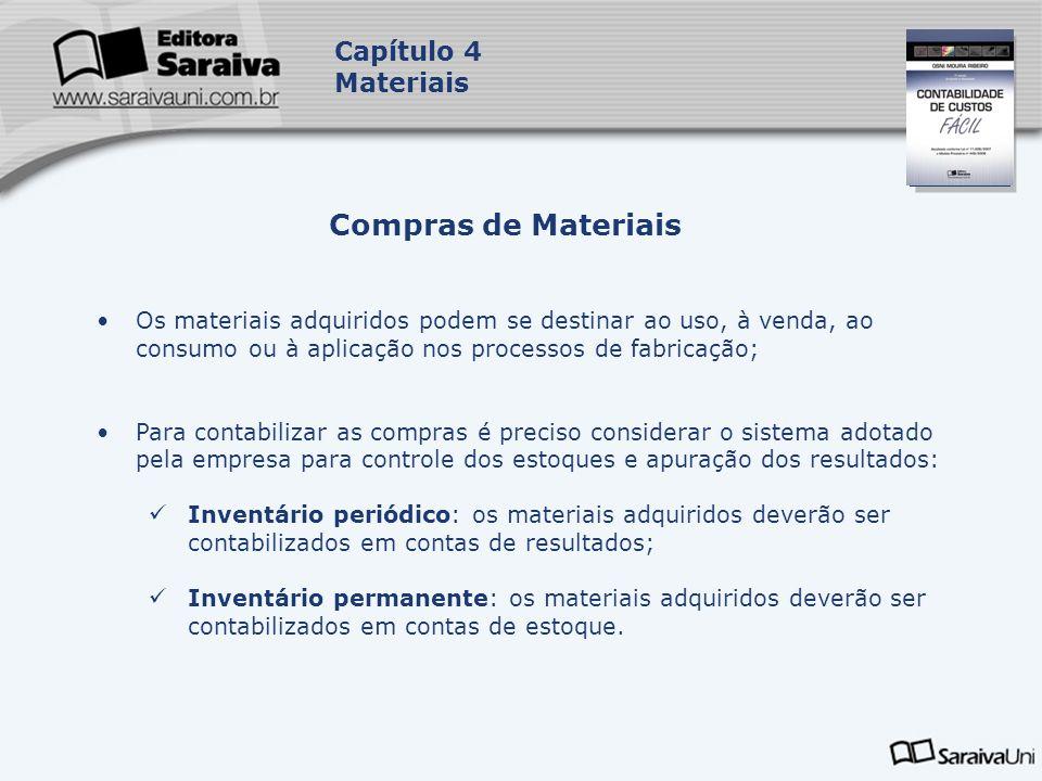 Compras de Materiais Capítulo 4 Materiais