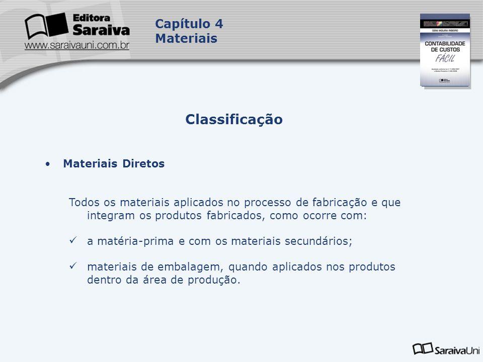 Classificação Capítulo 4 Materiais Materiais Diretos
