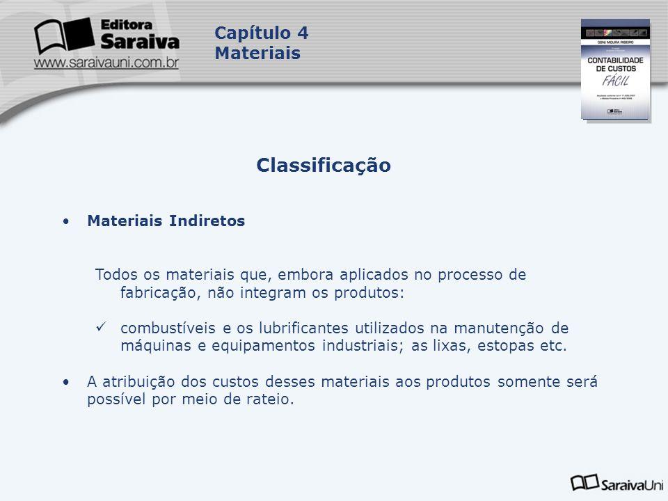 Classificação Capítulo 4 Materiais Materiais Indiretos