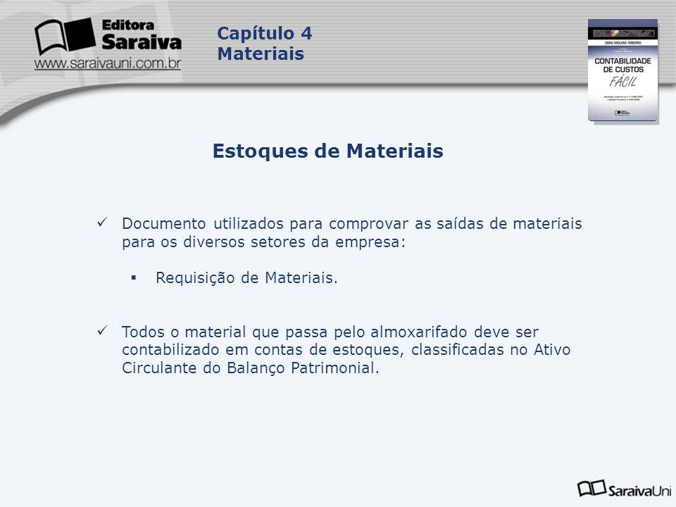 Estoques de Materiais Capítulo 4 Materiais