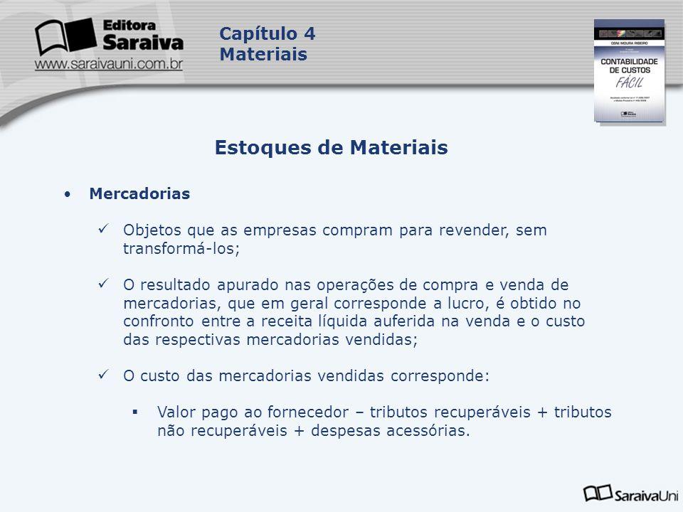 Estoques de Materiais Capítulo 4 Materiais Mercadorias