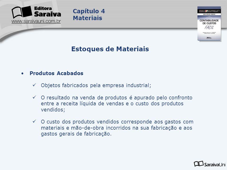 Estoques de Materiais Capítulo 4 Materiais Produtos Acabados