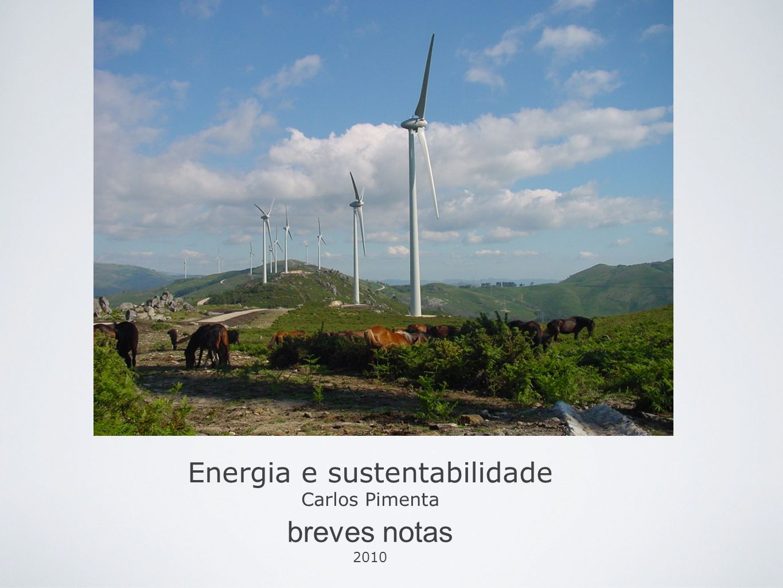 Energia e sustentabilidade Carlos Pimenta