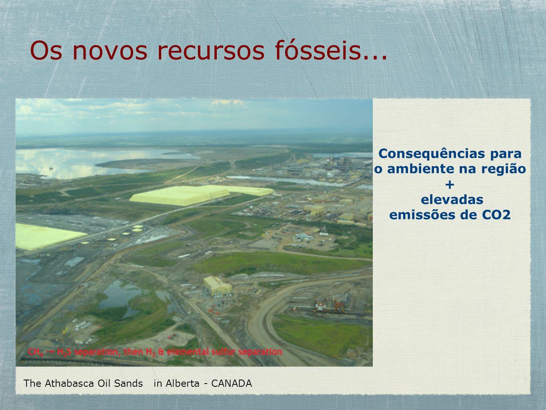 Os novos recursos fósseis...