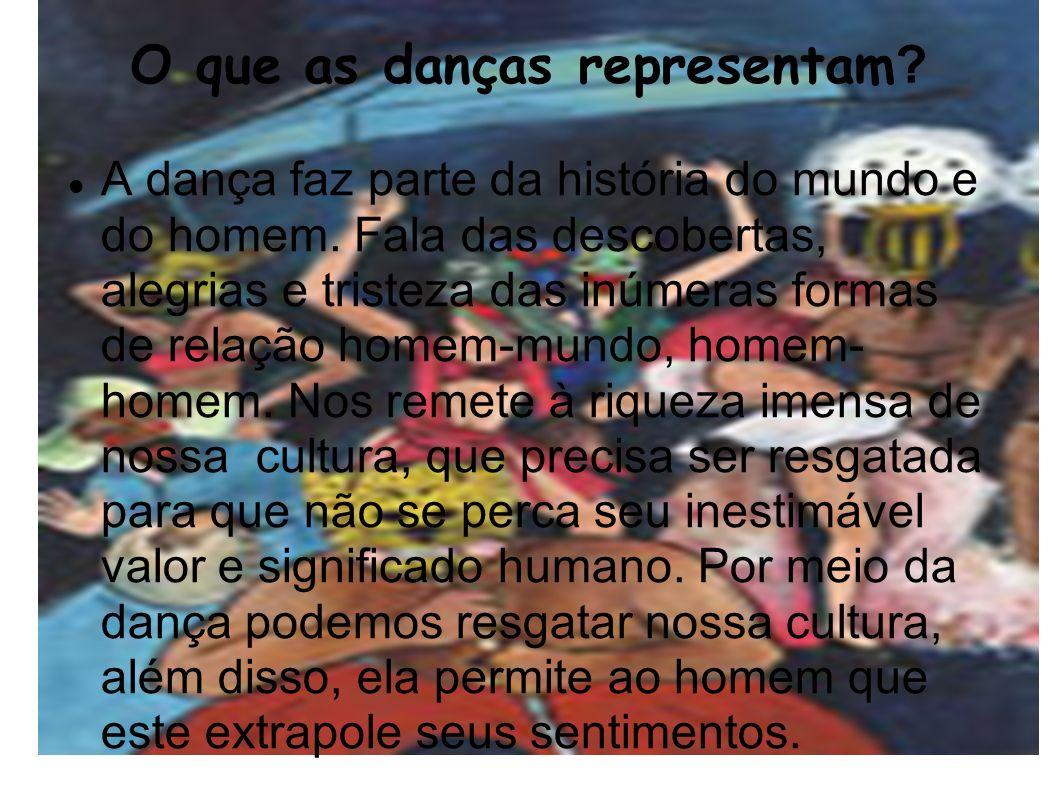 O que as danças representam